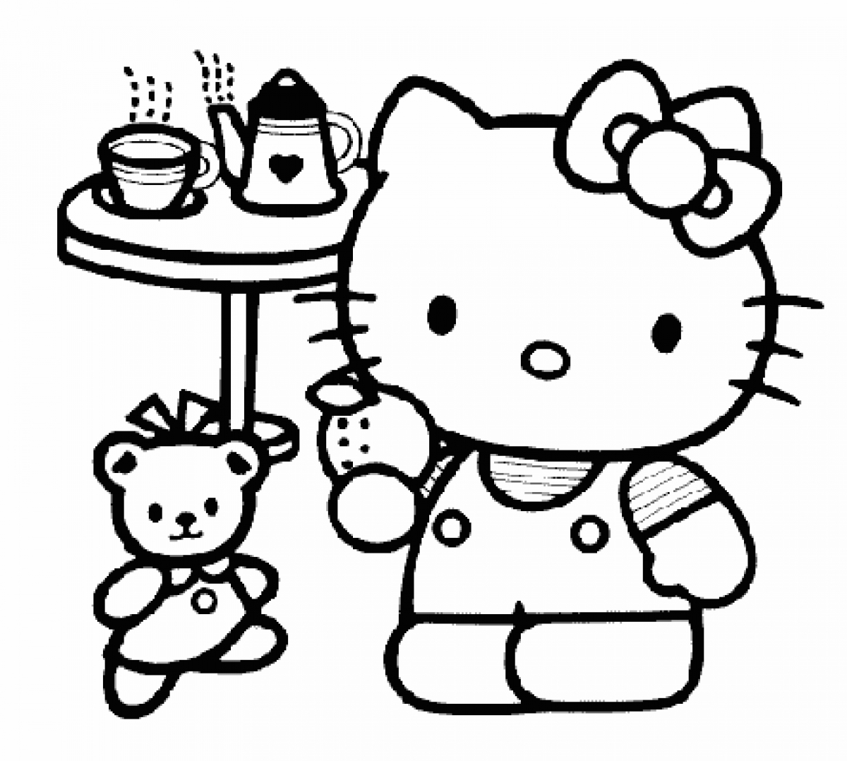 Coloring pages hello kitty - Hello Kitty Coloring Pages