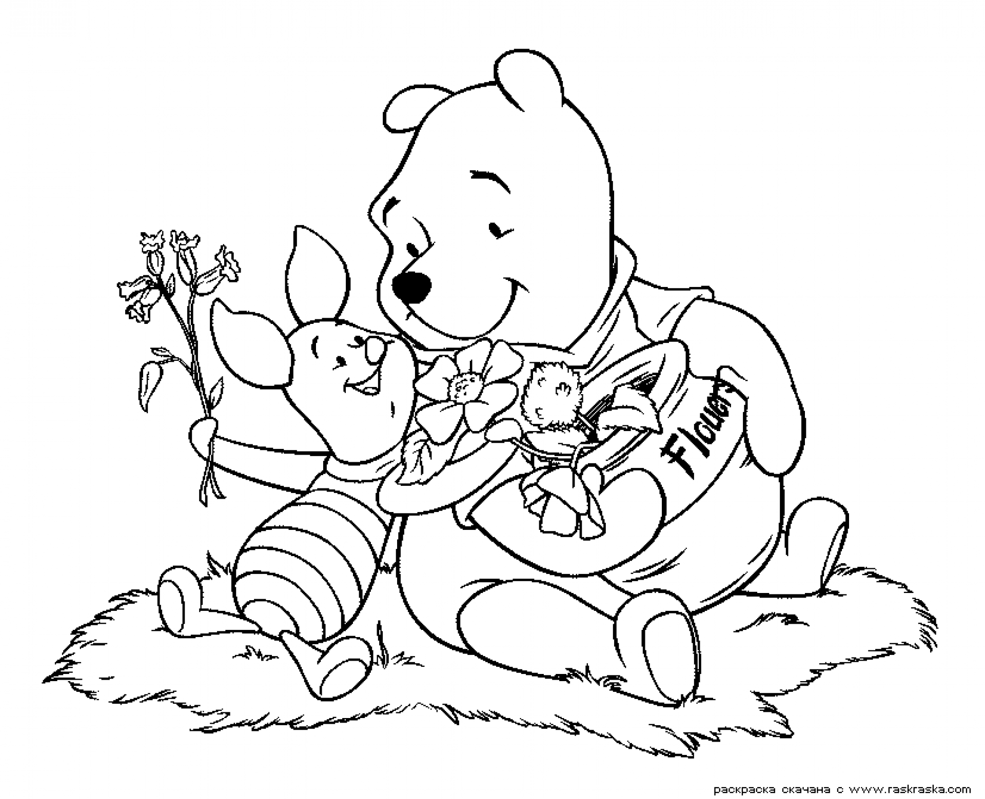 Top 30 Free Printable Cute Winnie The Pooh Coloring Pages Online | 1559x1920