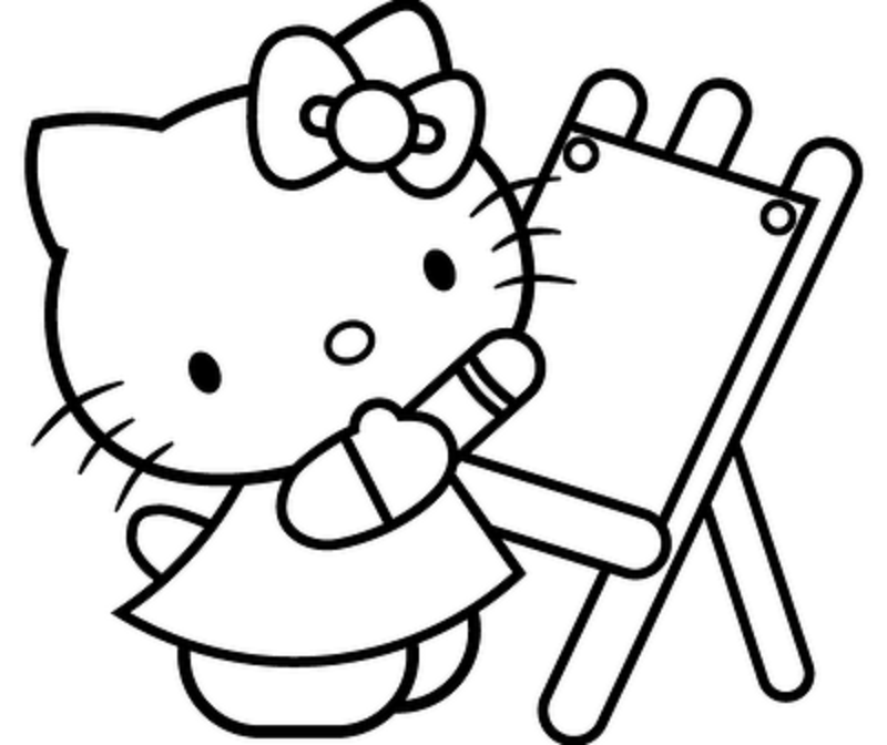 kitty cat coloring pages - Kitty Cat Coloring Pages