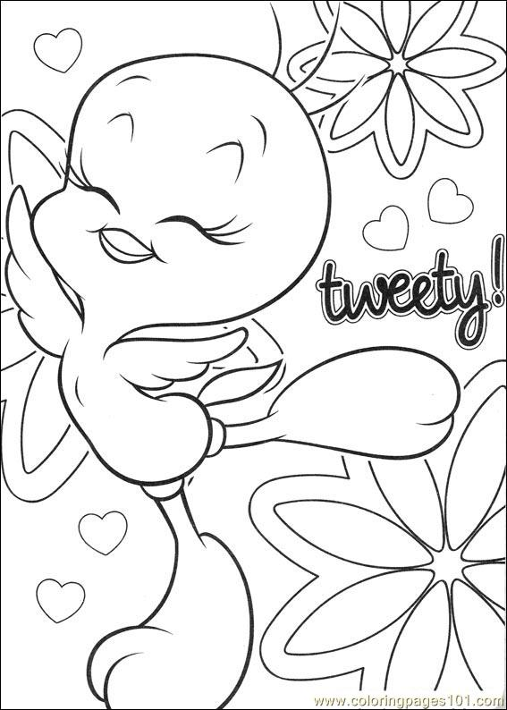 coloring pages of tweety bird