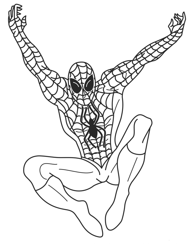 Spiderman Drawing Color Spiderman Color Pages For Kids