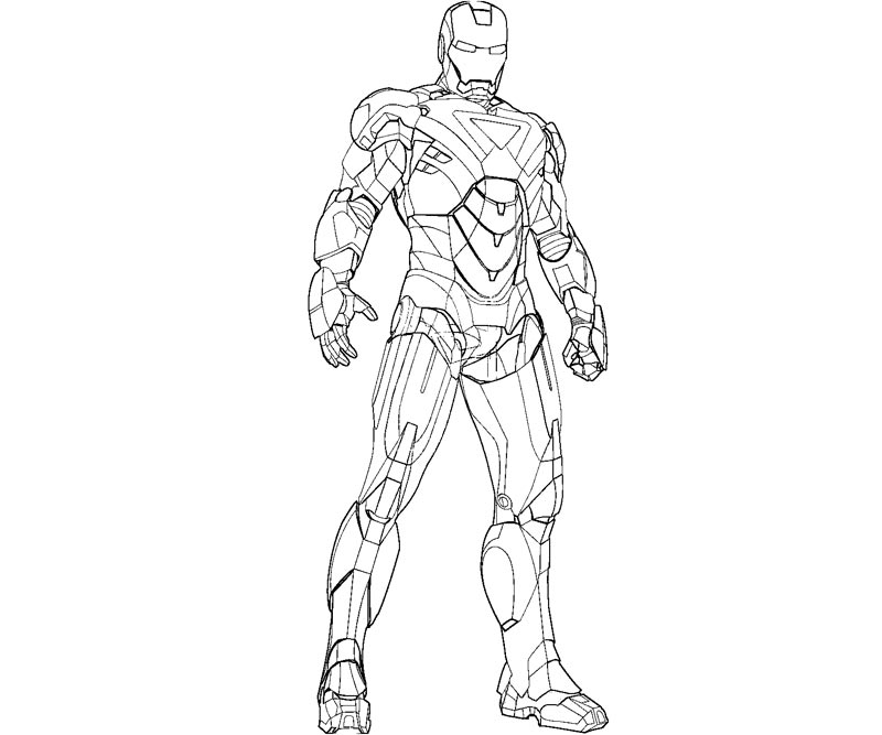 iron man coloring pages for kids - Iron Man Coloring Pages Printable
