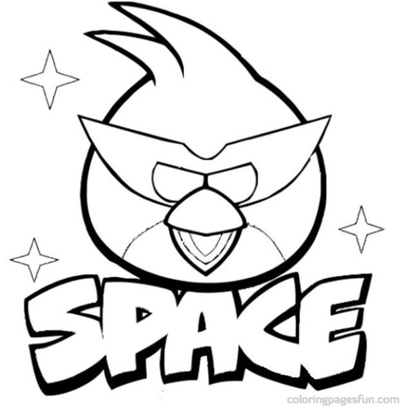Angry Birds Space Coloring Pages Online Coloring Pages